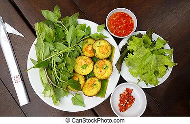 Asian Prawn Shrimp Salad Dish
