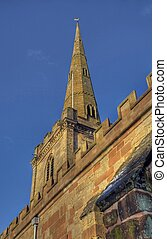 Church spire at Chaddesley Corbett, Worcestershire, England