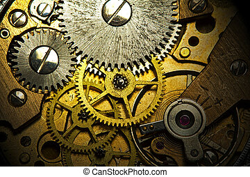 Old Watch Mechanism - Old,dusty and rusty mechanism of the...