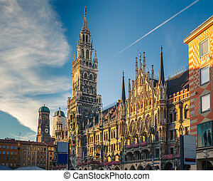 Munchen new town hall - New Town Hall in Munich, Germany