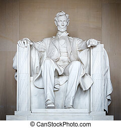 Statue of Abraham Lincoln, Lincoln Memorial, Washington DC