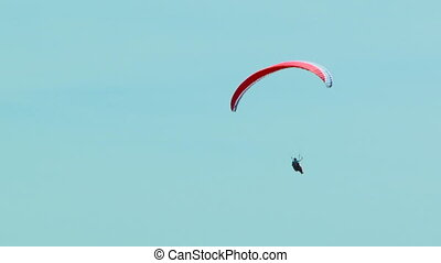 Gliding in the sky - Paragliders in the sky