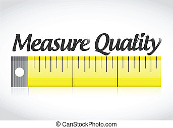 measure quality illustration design over a white background