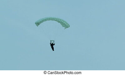 Paraplaner in the sky - Paraplaner flying high in the sky