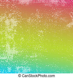 Rainbow Grunge Texture - Distressed background - Rainbow...