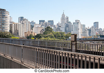 Sao Paulo City - View of buildings in downtown Sao Paulo,...