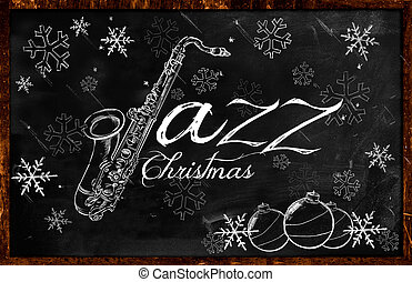 Jazz Christmas music background