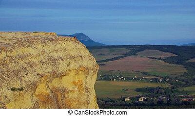 Tourist on a peak