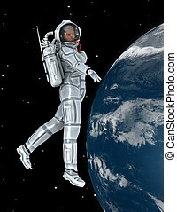 astronaut - The woman is CG