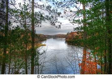 Mississippi River view at Crow Wing State Park in North...