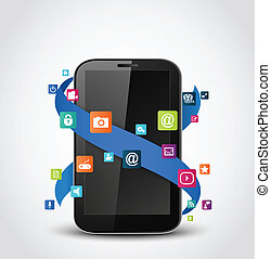 Mobile phone applications icons