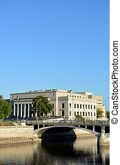 Linn County Courthouse Iowa - View of the Linn County...