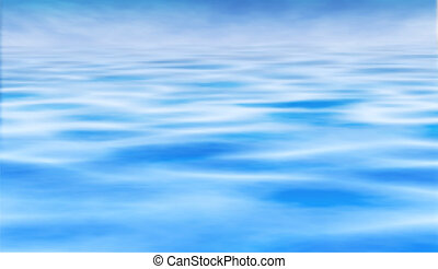 Water horizon - Editable vector illustration of a water...