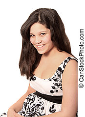 Young pretty pre teen girl - Young pretty pre teen brunette...