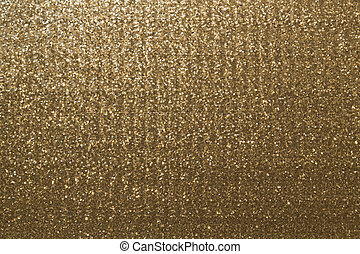 Gold metallic glitter fabric background