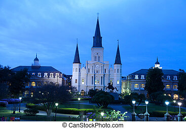 St Louis Cathedral - NEW ORLEANS-March 10: St Louis...