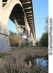 Under the Mendota Bridge - In Fort Snelling State Park under...