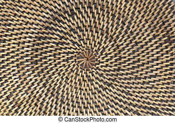 Rattan palm background,Circle pattern