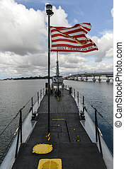 USS Bowfin at Pearl Harbor, Oahu, Hawaii - USS Bowfin SS287...