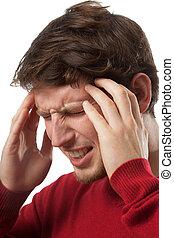 Headache - Man suffering from strong headache