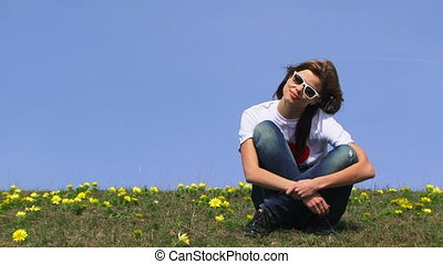 Teenager in a field