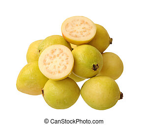 guava - a lot of guava isolated on white background