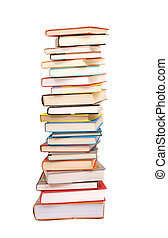 a stack books isolated on white