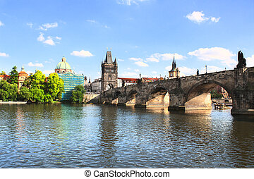 Charles bridge in Prague - Charles Bridge in Prague, Czech...