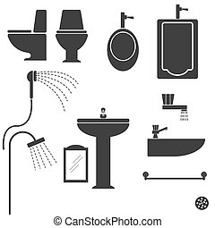 Sanitary ware Vector - image of Sanitaryware toilet vector...