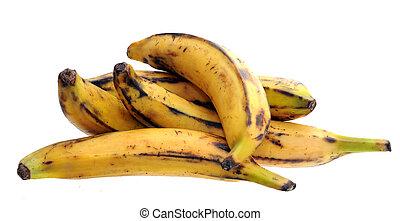 plantain banana - some ripe plantain banana isolated on...