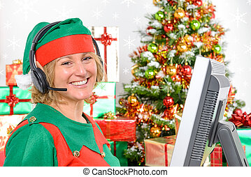 Elf customer support - A member of the Elf customer support...