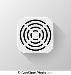 White Technology App Icon Template - White abstract...