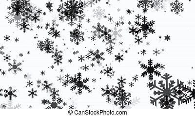 Snowflakes on white background