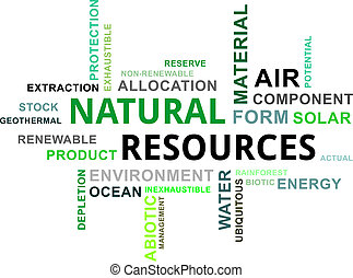 word cloud - natural resources - A word cloud of natural...