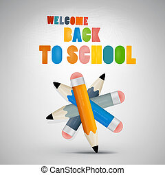 Colorful vector Back to school theme
