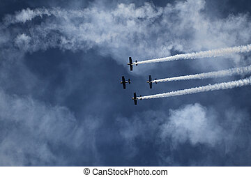 Air show - Aerobatic team at airshow