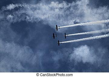 Air show - Aerobatic team at airshow