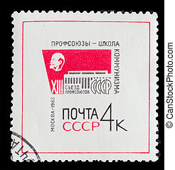 USSR - CIRCA 1963: A post stamp printed in USSR, showing...