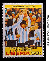 LIBERIA - CIRCA 1978: A post stamp printed LIBERIA,...