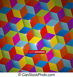 Abstract colorful vector square background