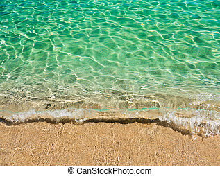 Clear turquoise water of sardinian sea - Clear turquoise...