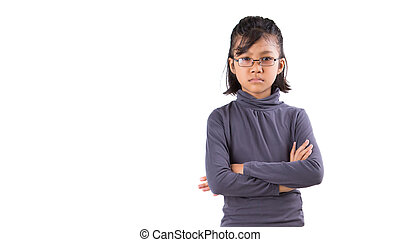 Young Asian Girl - Young Malay Asian girl with angry face...