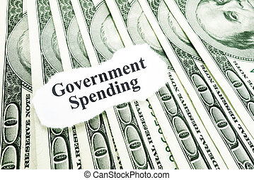 Government spending - Government Spending text on a paper...
