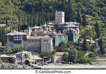 Greece, Mount Athos, Monastery Dochiariou