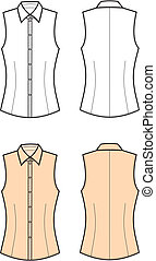Blouse - Vector illustration of women's blouse