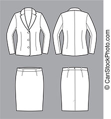 Business suit - Vector illustration of womens business suit...