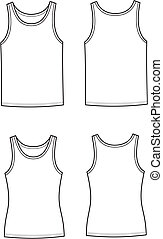 Singlet - Vector illustration. Set of men's and women's...