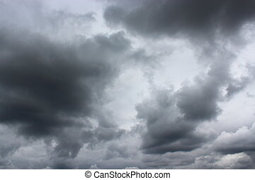 landscape with storm-clouds - the landscape with dark...