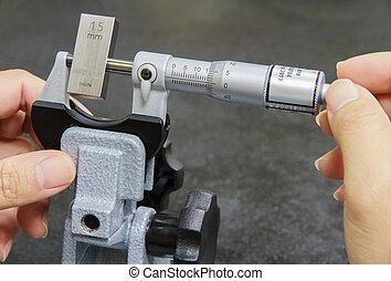 Calibration micrometer in laboratory