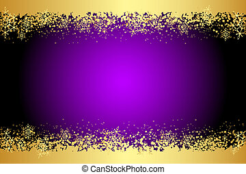 purple frame with snowflakes - Vector purple frame with...